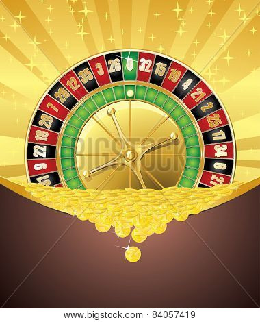 Roulette And Golden Coins