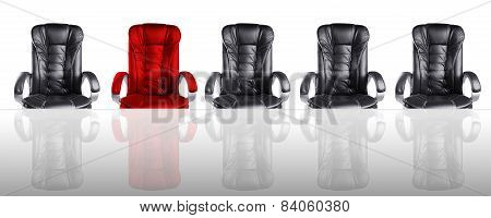 Concept Of Board Of Directors Meeting Chairs And Glass Table