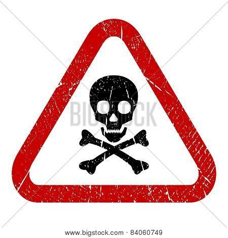 Danger skull icon
