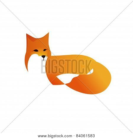 Red Fox In Vector Style