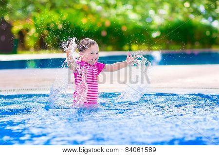 Funny Girl In Swimming Pool