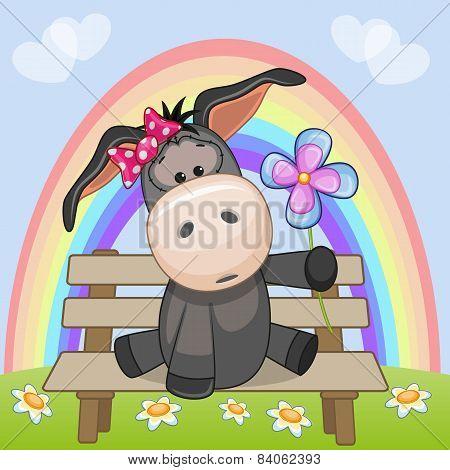 Donkey With Flower