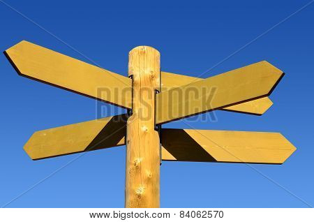 Direction sign left < -> right (blank)