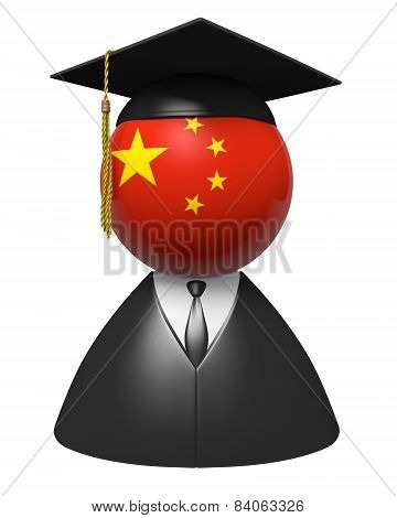 China college graduate concept for schools and academic education