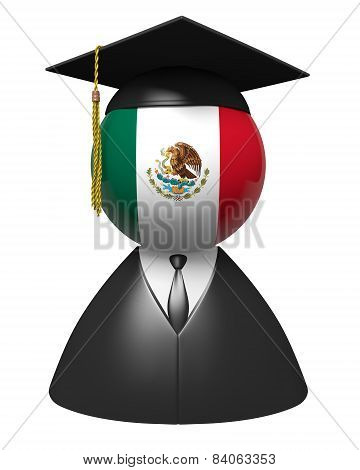 Mexico college graduate concept for schools and academic education