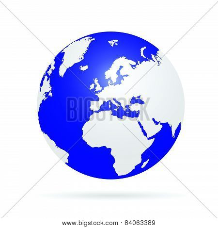 Planet Earth Color Vector
