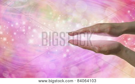Female Hands showing Energy Entrainment