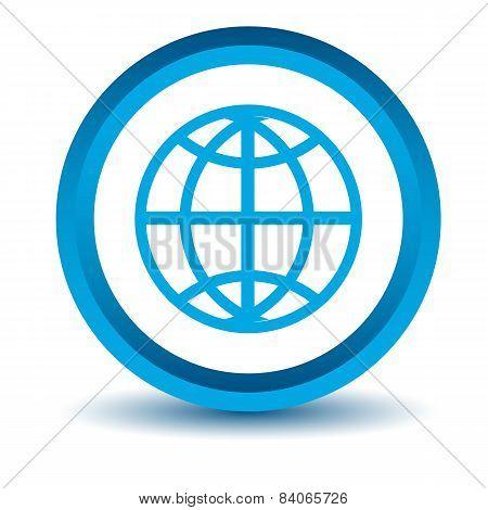 Blue world icon