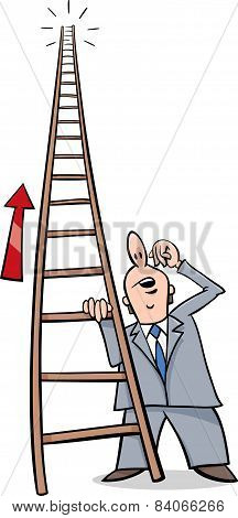 Ladder Of Success Cartoon