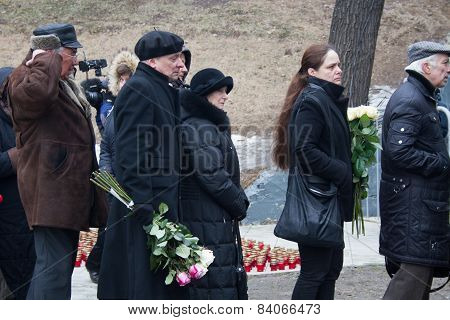 Turn To The Farewell Ceremony With Politicians Boris Nemtsov