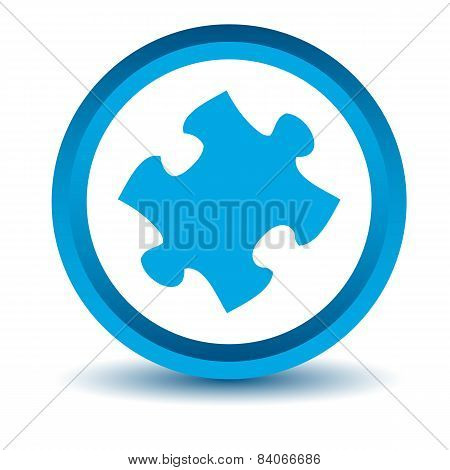 Blue puzzle icon
