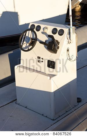 Motorboat Cockpit Controls