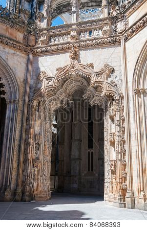 Portal Of The Unfinished Chapels In Batalha Monastery