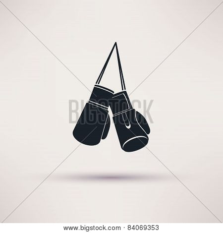 Boxing label and icon in flat style. Vector.