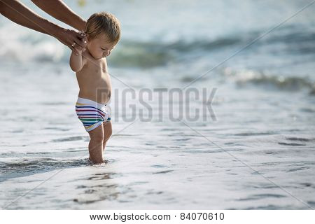 Baby and sea