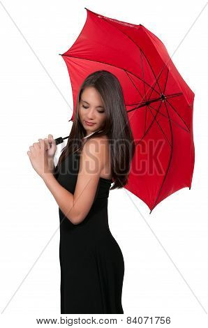 Woman Holding Umbrella