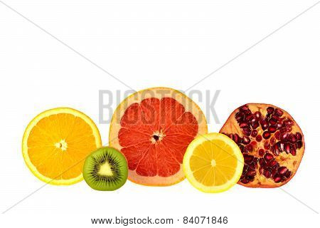 Cutting Off Half Of The Fruit