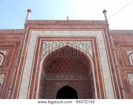 Taj Mahal gate architectural details
