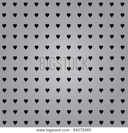 Hearts With Grey Background