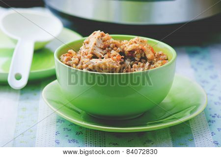 Buckwheat With Vegetables And Chicken
