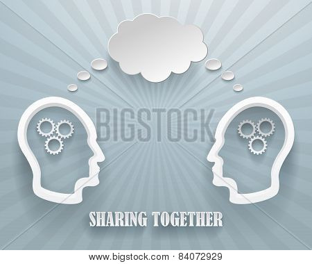 Sharing Together Background Illustration