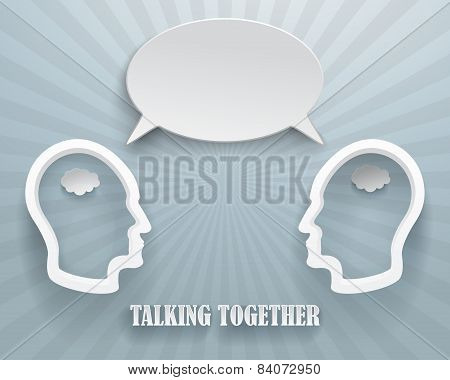 Talking Together Background Illustration