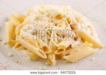 Italian Pasta With Parmigiana Cheese