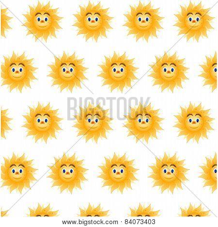 Seamless pattern - sun