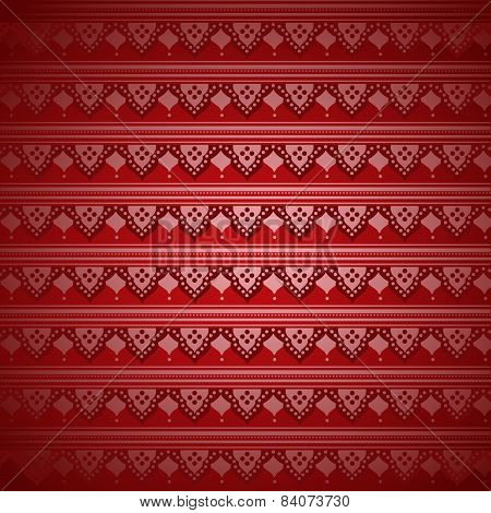 Red Indian henna pattern