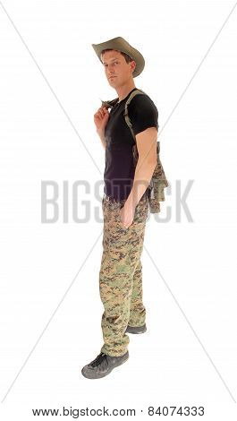 Relaxed Soldier Standing.