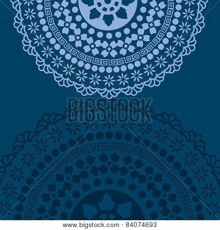 Blue Indian mandala background
