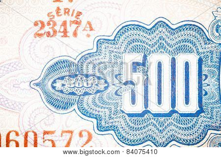 Blue Five Hundred Bill