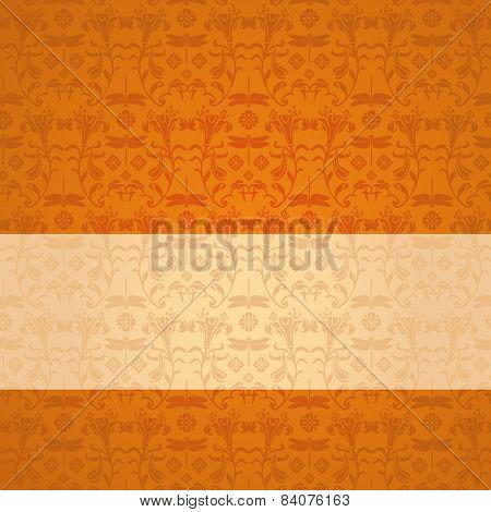 Orange and cream Japanese dragonfly banner