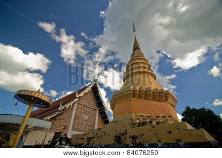 WAT PHRATHAT JOMPING TEMPLE in Lampang,Thailand