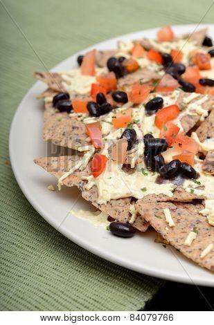 Vegan White Cheddar Nachos