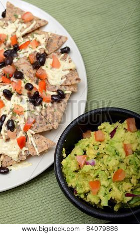 Guacamole And Vegan Nachos