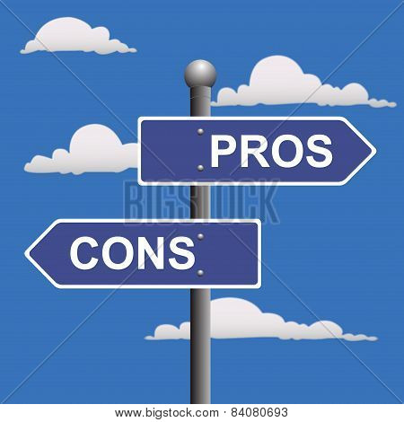 Pros, cons, street, signs, comparing, options