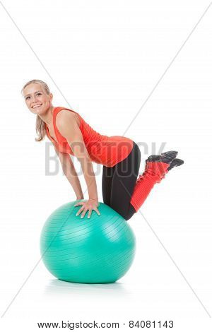 Fitness Series: Woman And Exercise Ball