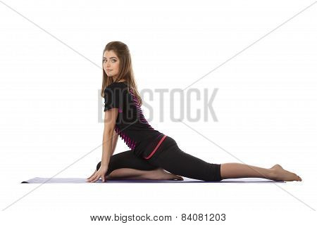 Attractive sporty woman engaged in fitness