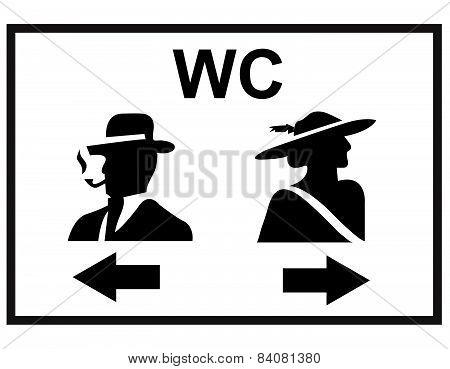 Toilet sign, men, woman, wc, vector, illustration