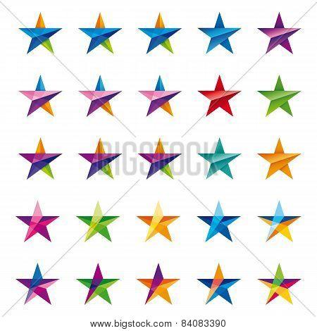 Crystalline Star Logo Set