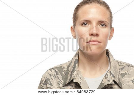 Serious Female Airman
