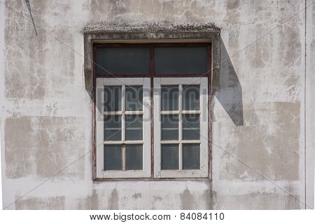Window With Cement Wall