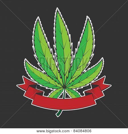 cannabis green leaf