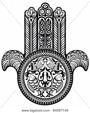 Jewish sacred amulet. Hamsa