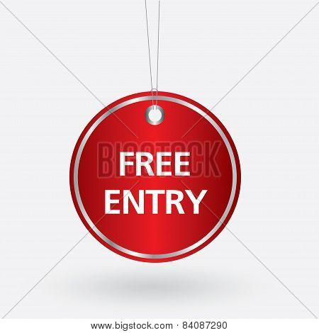 red oval free entry