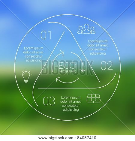 Vector circle eco infographic. Ecology template for diagram, graph, presentation and chart. Environm