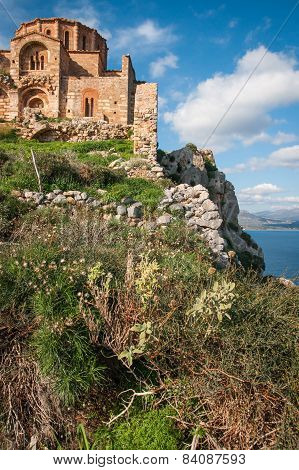 Medieval Church  At Monemvasia, Peloponnese, Greece