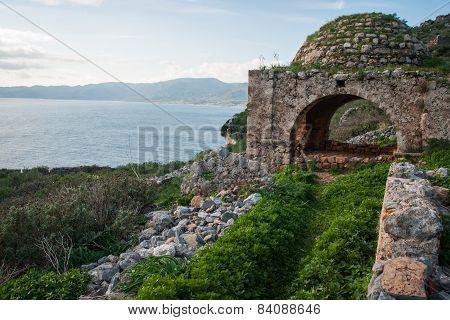 Cityscape At Monemvasia, Peloponnese, Greece