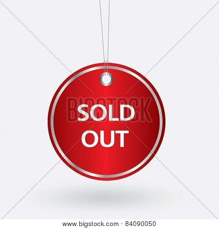 red oval sold out